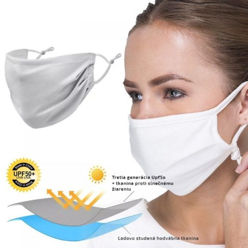Ochranné rúško na ústa a tvár na leto – žiadne potenie, chladivý efekt
