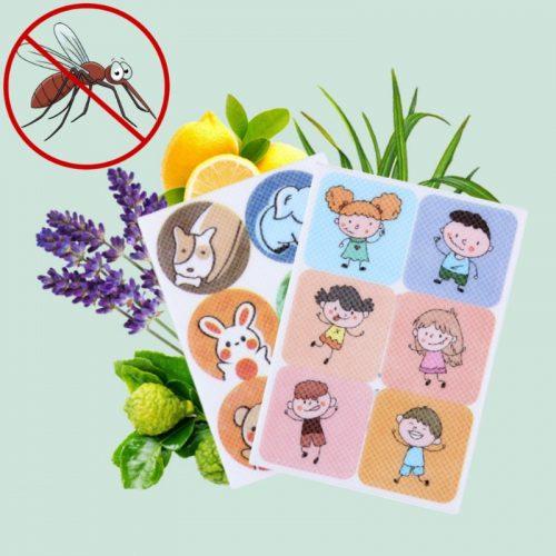 Prírodný repelent proti komárom vonku – 72 náplastí