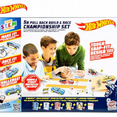 HOT WHEELS BLADEZ MAKER KITZ 5X PULL BACK BUILD & RACE CHAMPIONSHIP SET