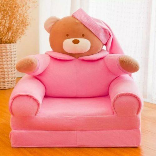 Detské rozkladacie kresielko MACKO – ružový 3v1
