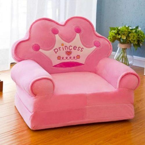 Detské rozkladacie kresielko PRINCESS- ružové 2v1
