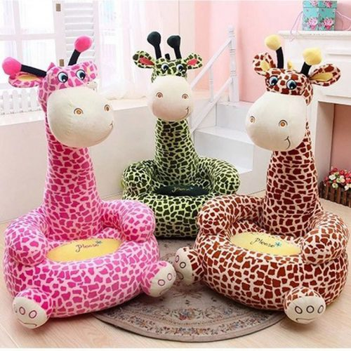 Detské kresielko pre deti,  kreslo zvieratka žirafa